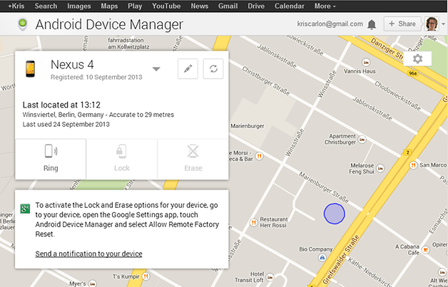 News And Information Google Android Device Manager