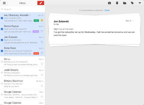 Gmail download for tablet and ipad