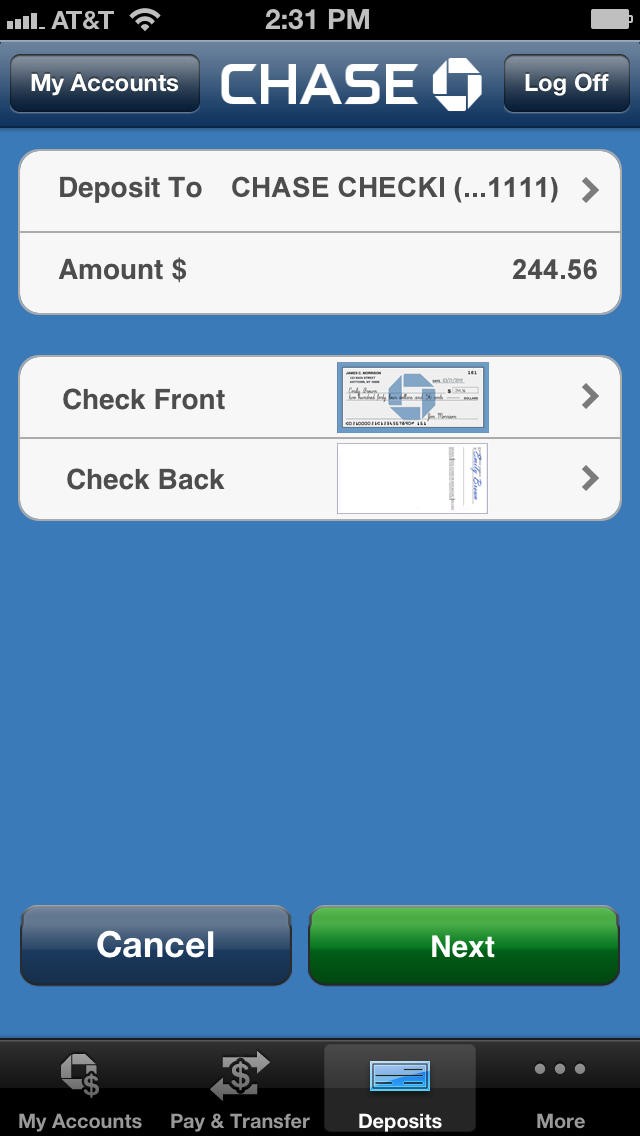 Chase Credit Card Iphone App