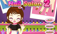 Playing the Nail Manicure Game : Baby Nail Manicure Makeover & Decorate