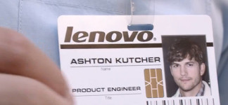 Project Engineer: Now Aston Kutcher is working for Lenovo: Lenovo Ashton Kuthcer Name Tag