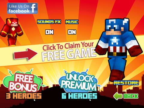 free download he Pixel Superhero Gears - The Popular Hero Hunter Weapons in Minecraft Style ( Unofficial )