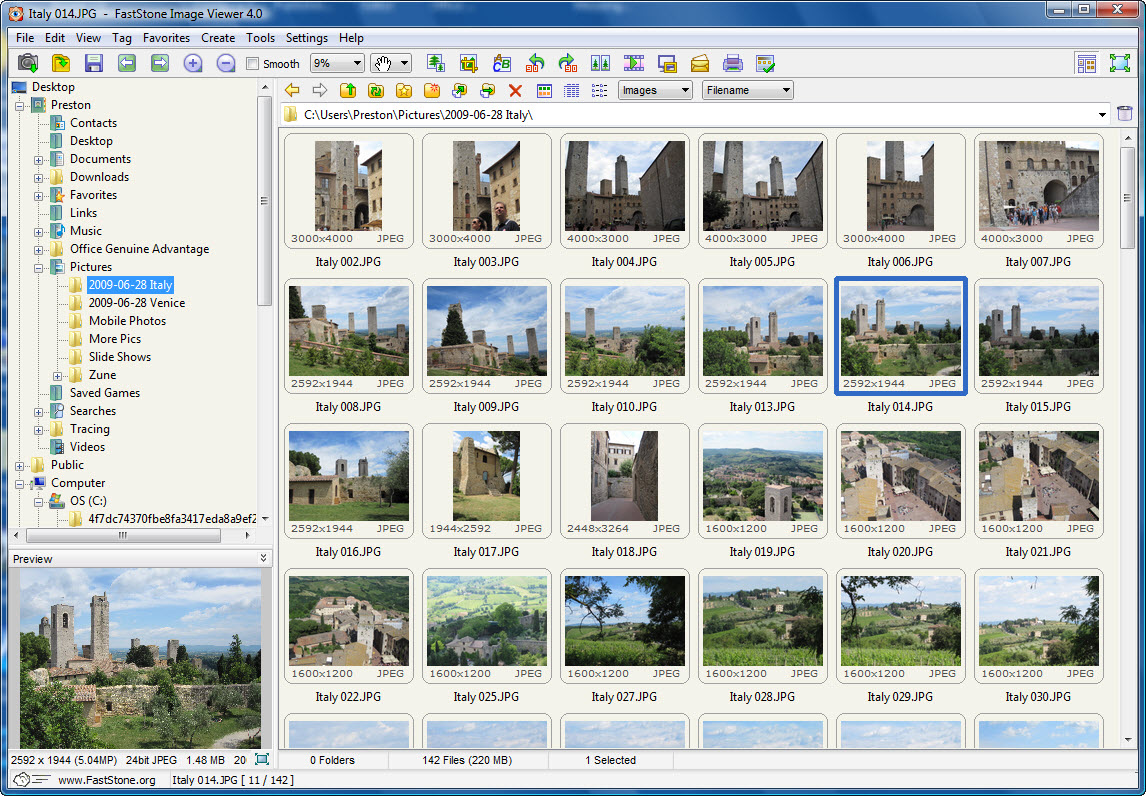 Faststone Image Viewer screenshot