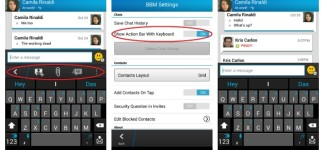 BlackBerry Messenger (BBM) Tips and Tricks: AndroidPIT BBM ActionBar