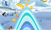 Playing Blue Lightnings Sled Race : Blue Lightnings Sled Race   Downhill Racing Game In The Snowy Mountain Games For Iphone