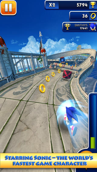 Freed download games Sonic Dash for iphone