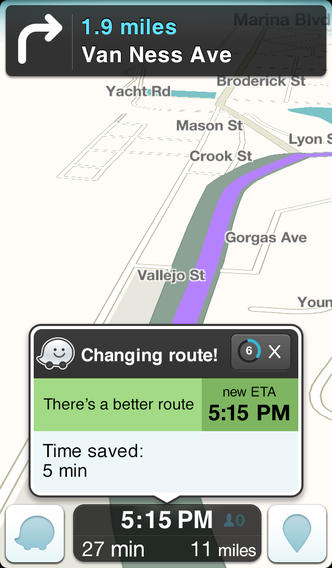 Waze Social GPS, Maps & Traffic for iphone