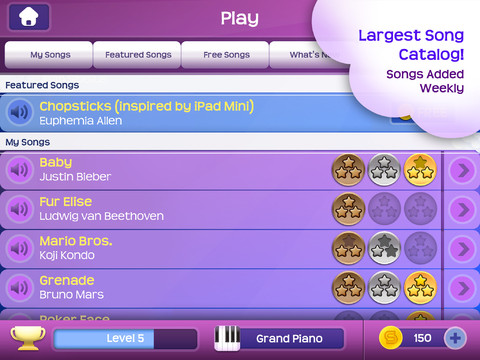 apps details Magic Piano by Smule for iphone