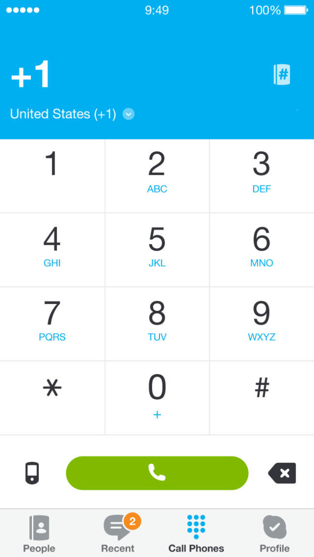 detail app Skype for iPhone