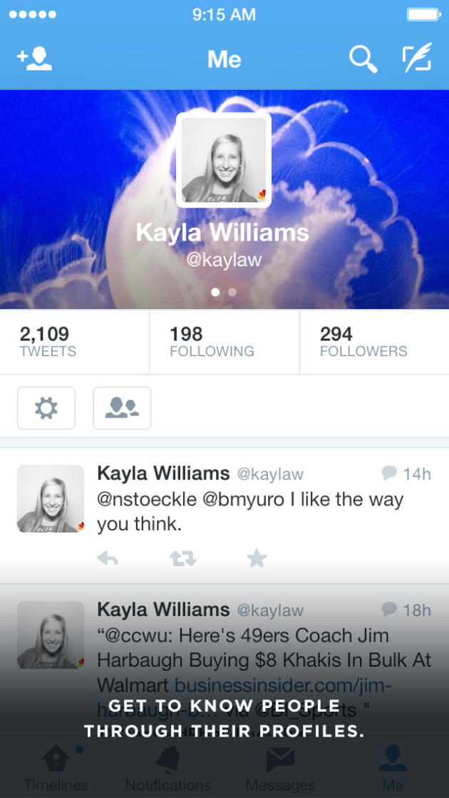 profile twitter for iphone
