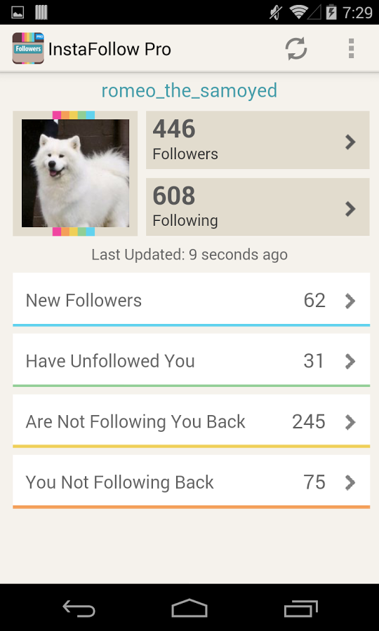 Android Apps: Followers Tracker For Instagram's Users