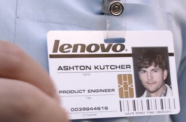 Lenovo Ashton Kuthcer Name Tag