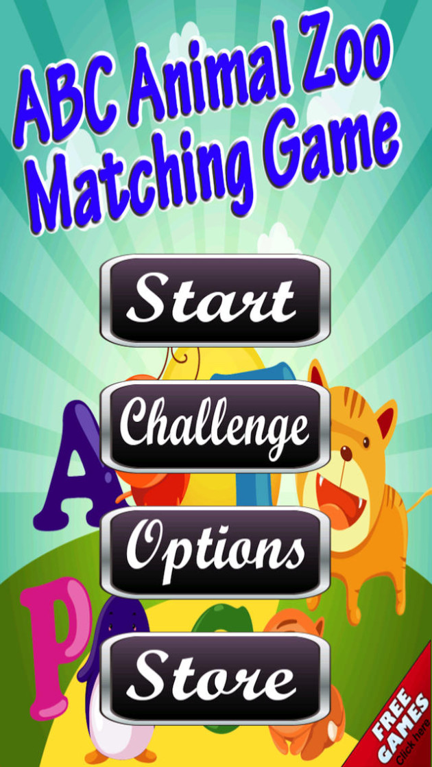 download free Animal Zoo Alphabet Matching Game