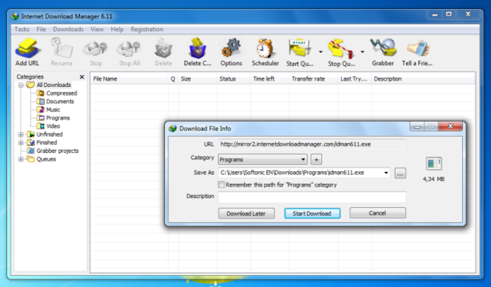 Internet download manager free download apps for pc.